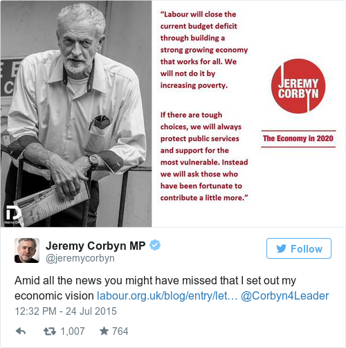 Tweet by @Jeremy Corbyn MP