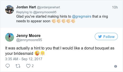 Tweet by @Jenny Moore