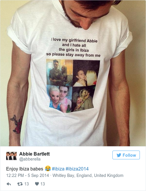 ba573228576896402f9f198a87217294 this gal designed a t shirt for her boyfriend to ward off other ladies