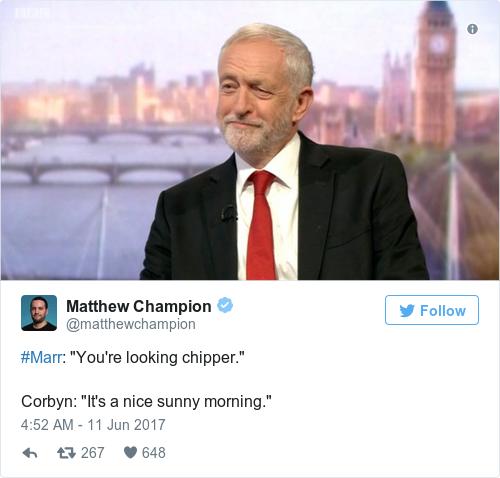 Tweet by @Matthew Champion