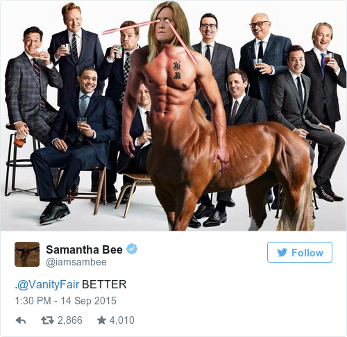 Tweet by @Samantha Bee