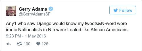 Tweet by @Gerry Adams