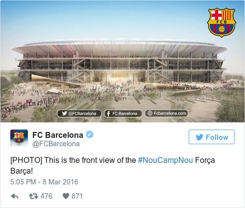 Tweet by @FC Barcelona