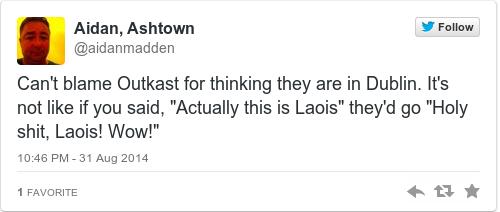 Tweet by @Aidan, Ashtown