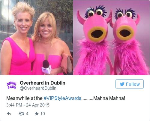 Tweet by @Overheard in Dublin