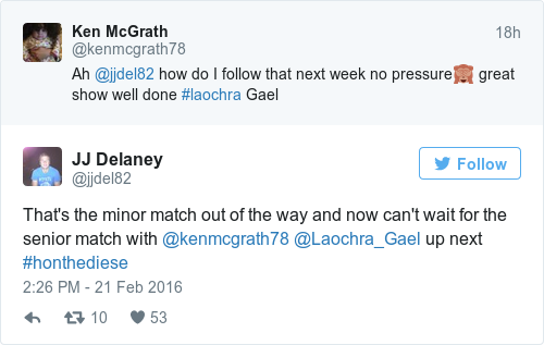 Tweet by @JJ Delaney