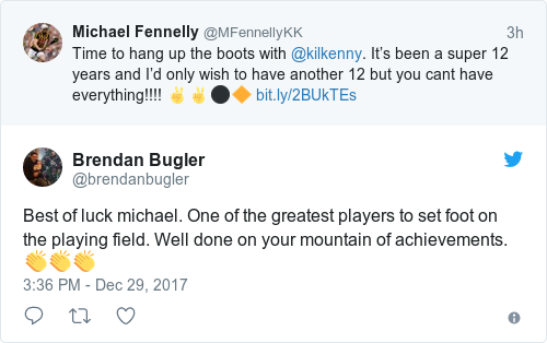 Tweet by @Brendan Bugler