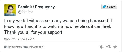 Tweet by @Feminist Frequency