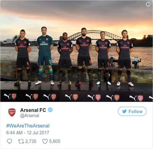 Tweet by @Arsenal FC