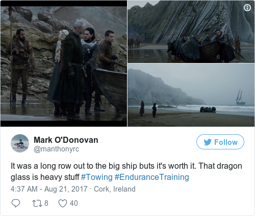 Tweet by @Mark O'Donovan