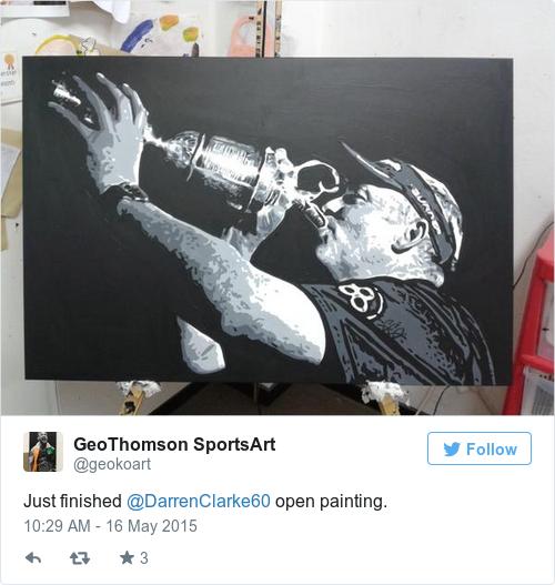 Tweet by @GeoThomson SportsArt