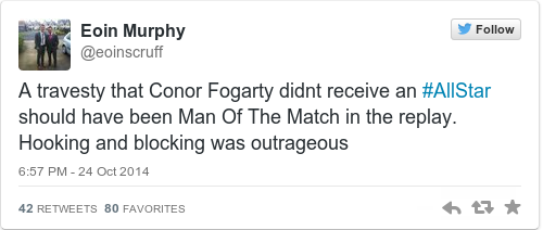 Tweet by @Eoin Murphy