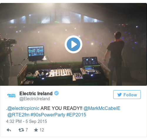 Tweet by @Electric Ireland