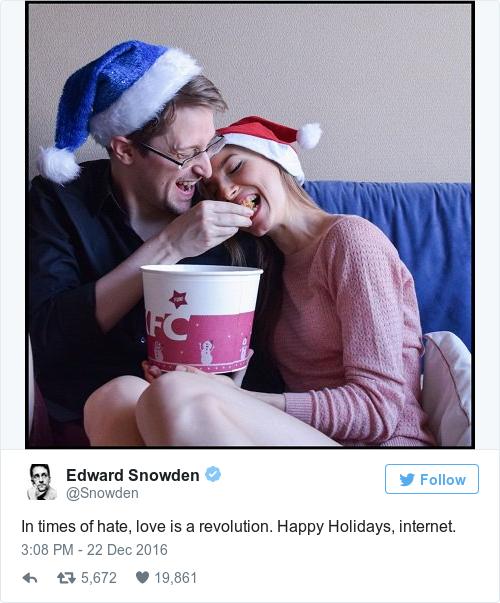 Tweet by @Edward Snowden