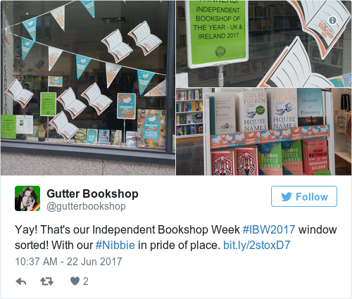 Tweet by @Gutter Bookshop