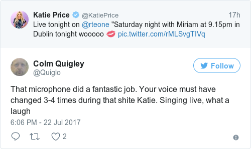 Tweet by @Colm Quigley