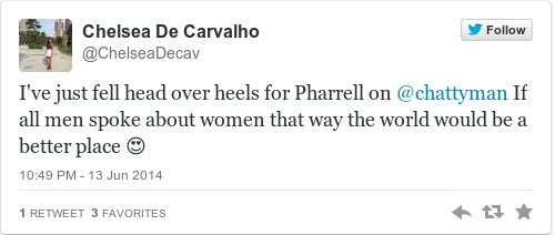 Tweet by @Chelsea De Carvalho