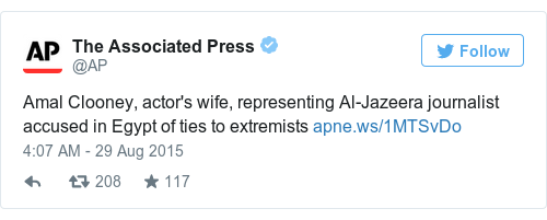 Tweet by @The Associated Press
