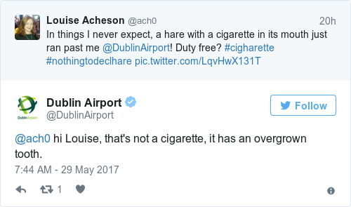 Tweet by @Dublin Airport