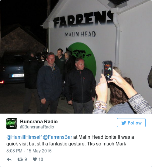 Tweet by @Buncrana Radio