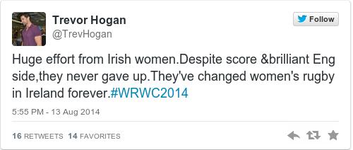 Tweet by @Trevor Hogan