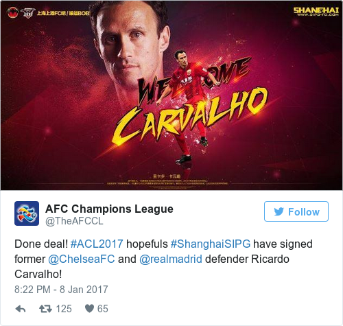 Tweet by @AFC Champions League