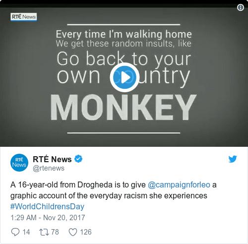 Tweet by @RTÉ News