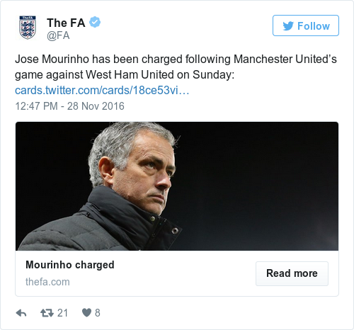 Tweet by @The FA