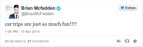 Tweet by @Brian Mcfadden