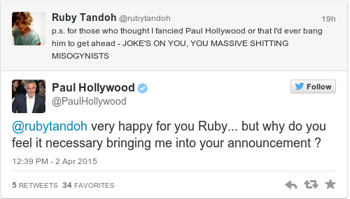 Ruby from GBBO came out on Twitter, and inspired loads of ...