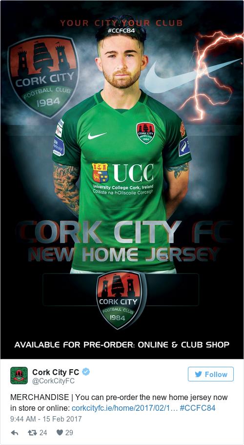 Tweet by @Cork City FC