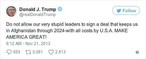 Tweet by @Donald J. Trump