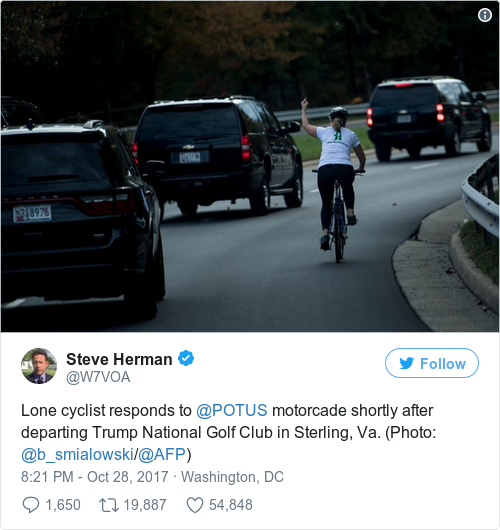 Tweet by @Steve Herman