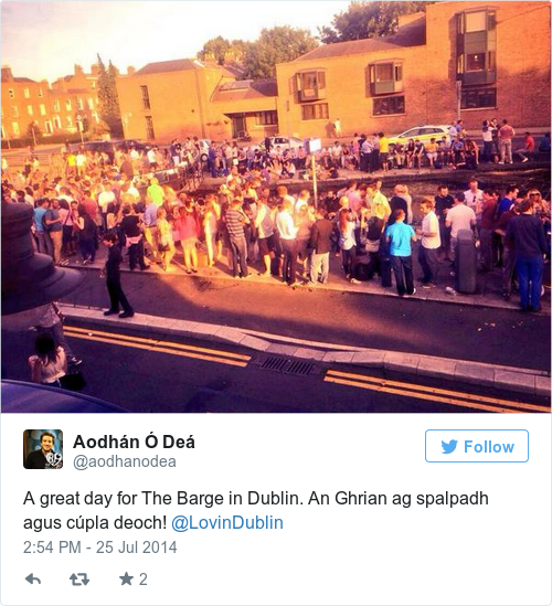 Tweet by @Aodhán Ó Deá