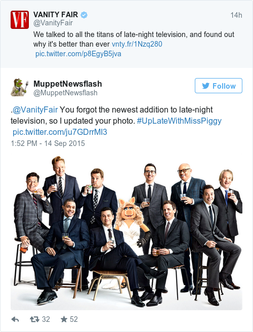 Tweet by @MuppetNewsflash