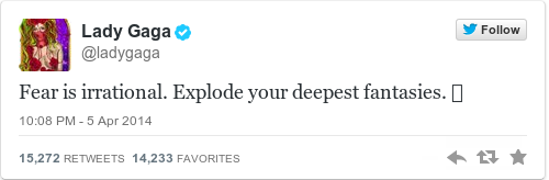 Tweet by @Lady Gaga