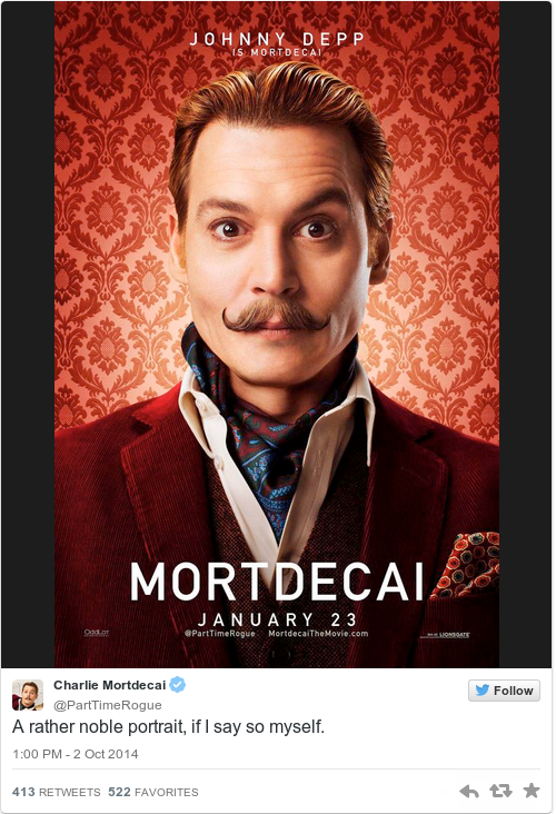Tweet by @Charlie Mortdecai