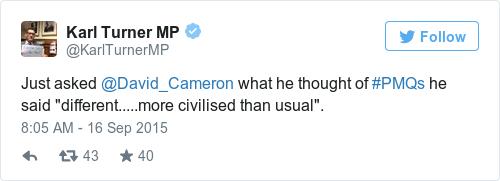 Tweet by @Karl Turner MP