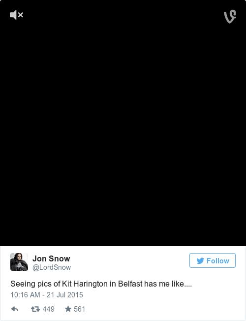 Tweet by @Jon Snow
