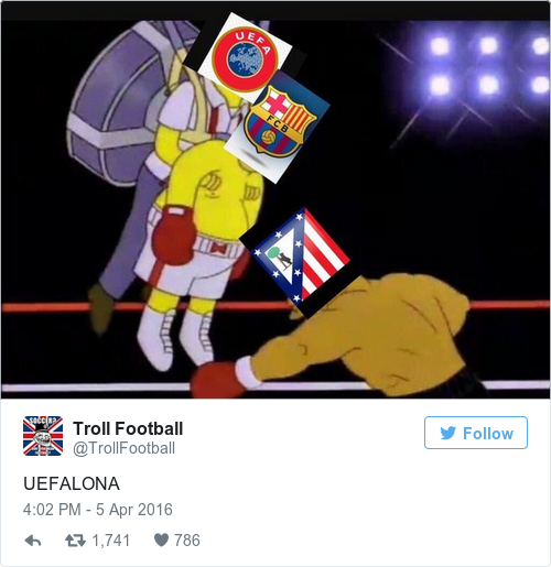 Tweet by @Troll Football
