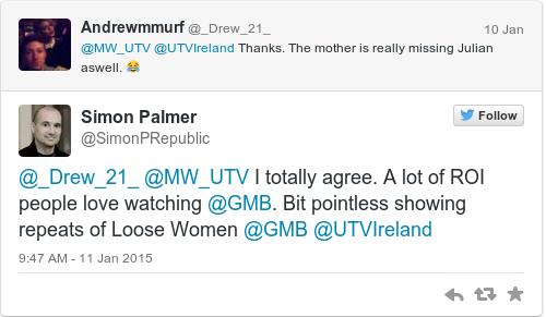 Tweet by @Simon Palmer