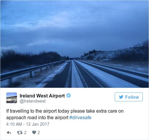 Tweet by @Ireland West Airport