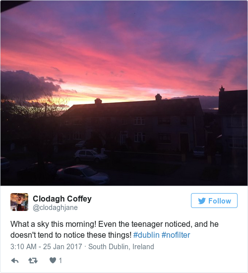 Tweet by @Clodagh Coffey