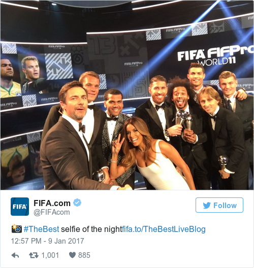 Tweet by @FIFA.com