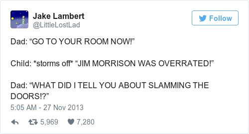 Tweet by @Jake Lambert