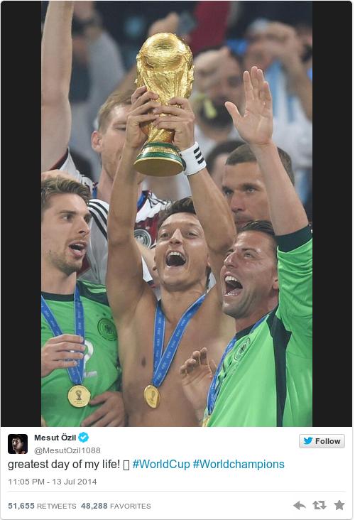 Tweet by @Mesut Özil
