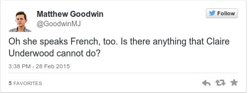 Tweet by @Matthew Goodwin