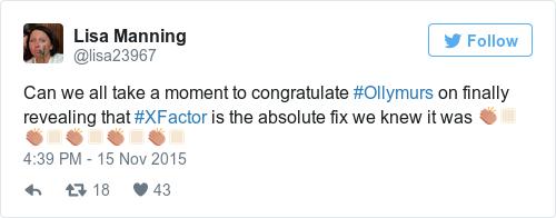 Tweet by @Lisa Manning