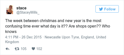 the week between christmas and new year is the most confusing time ever what day is it are shops open who knows - What Day Is Christmas This Year