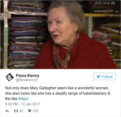 Tweet by @Fiona Kenny